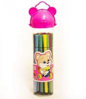 Фломастеры  в тубусе «Мишка» 24 цвета