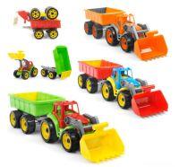 Трактор с ковшом и прицепом (6)