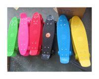 Скейт пластик.PVC колеса 56*15см 6цв. ((12))
