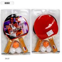 Теннис настольный (40шт) 2 ракетки, 3 мяча 0,7см