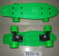 Скейт (12шт)пластик.крепление,колеса 4 см PVC, 42*13 см,6 цветов