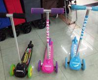 Самокат 3-х колесн.пластик.3цв.PVC колеса 120мм 28*9см 1,6кг ((6))
