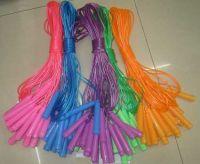 Скакалка (1000шт) длина 2,2м, 5 цветов, однотонная