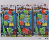 Рыбалка (432шт/2) 3вида, магнит.удочка, 6морск.животных,на планшетке 30*14см