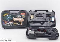 Пистолет с гелевыми пульками,аккум.прицел в чемодане 30*20*7 ((24))