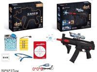Пистолет с гелевыми пульками,мишенью,очки аккум.кор.50*6*37 ((16))