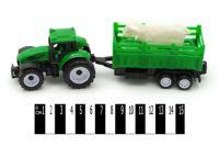 """Трактор  """"Фермер"""" інерц. з причепом (ковпак) р.22*6*8 см"""