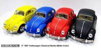 "Модель легковая 5"" KT5057WM 1967 Volkswagen Classical Beetle (Matte) метал.инерц.откр.дв.кор./96/"