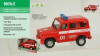 "Машина батар (36шт/2)""Пожарная охрана"", звук, свет, в коробке 21*11*11см"