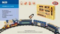 Железная дорога:  р/у, муз., свет., поезд, 3 вагона, в кор. 53*31*7см ((24))
