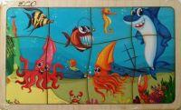 """Пазл деревянный """"Подводный мир"""" в рамке (10)"""