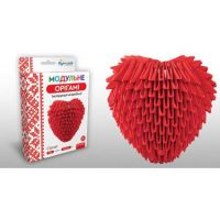"""Модульное оригами """"Сердце"""" 283м (24)"""