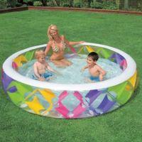 INTEX бассейн с надувным дном 229*56см (2)