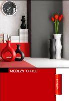 "Тетрадь А5. Серия Modern office ""Red"" 50 л. (пружина, клетка)"