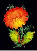 """Зошит """"Яскрава квітка"""". Серія """"Українські мотиви""""  (А5, тв.обкл., 160 арк., клітинка)"""
