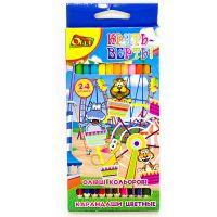 Набор цветных двусторонних карандашей «Круть Верть!» Olli , 12 шт (24 цвета)