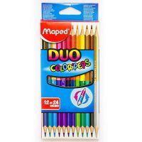 Набор цветных двусторонних карандашей «Maped» 12 шт (24 цвета)
