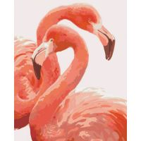 "Картина по номерам ""Грация фламинго """