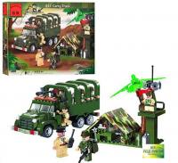 Конструктор BRICK воен.лагерь с грузовиком 308 деталей