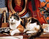 """Картина по номерам """"Кот и скрипка"""""""