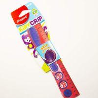 Линейка «Kidy'Grip» 20 см (пластик с резиновой вставкой, со смайликами «Maped»)