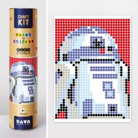"Картина по номерам с наклейками ""Робот"""