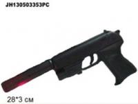 Пистолет с пульками, глушителем, лазером,утяжеленный